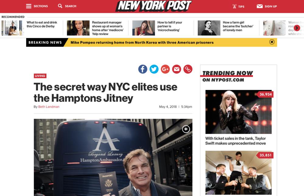 NY Post - May 2018    Read the full story here