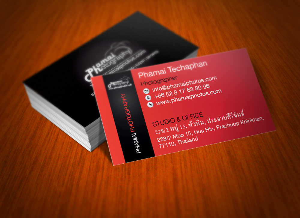 Phamai Photography Business Card Set designed by Thomas Groves
