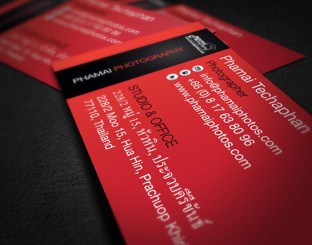 Phamai Photography Business Card Set designed by Thomas Groves
