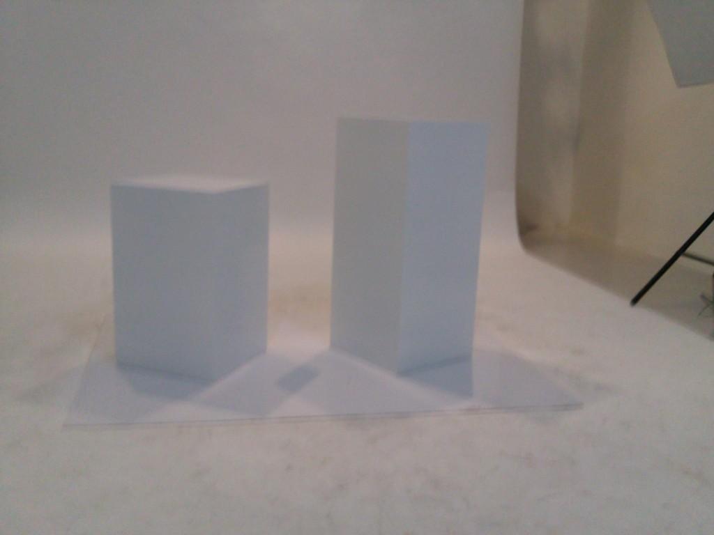 White studio seatign blocks