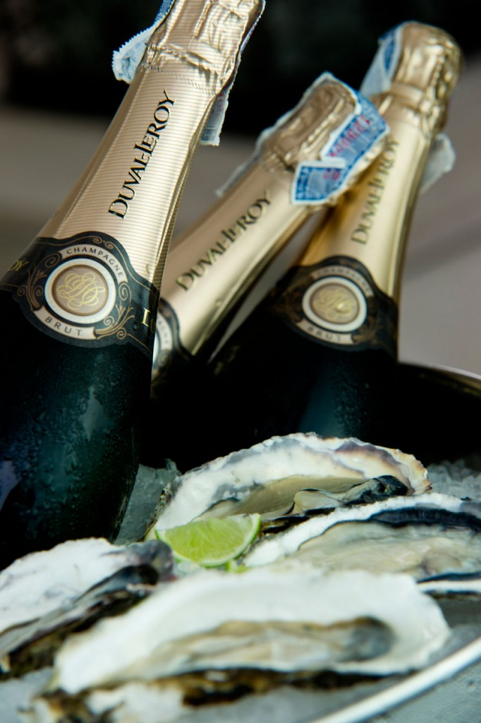 Champaigne and Oysters - InterContinental PR Food Photography