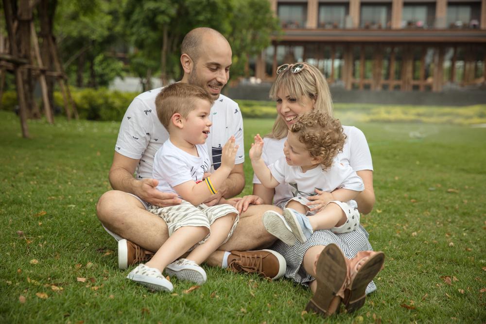 Family Photo Session at Hua Hin Marriot Resort and Spa