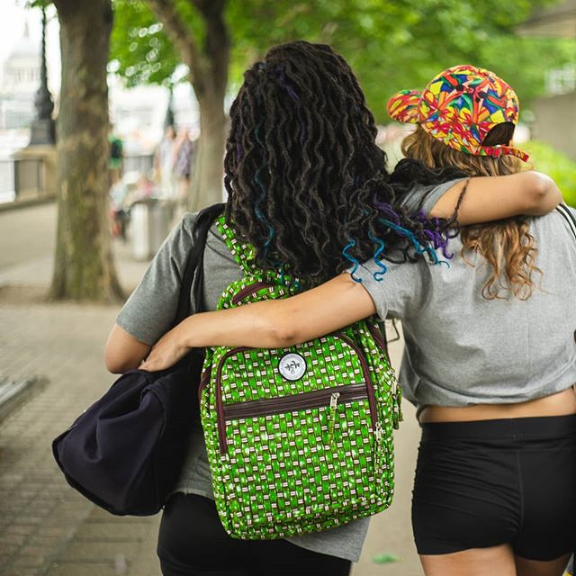 Colurful friendships, start with being true to yourself, and being honest with each other ✨  #honestclothing #ethicalclothing #ethicalfashion #colour #asosmarketplace #mymarketplace #backpack #rucksack #handmade
