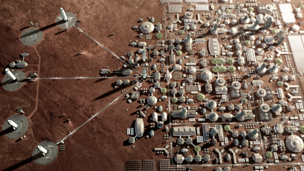 SpaceX's idea of a Martian City
