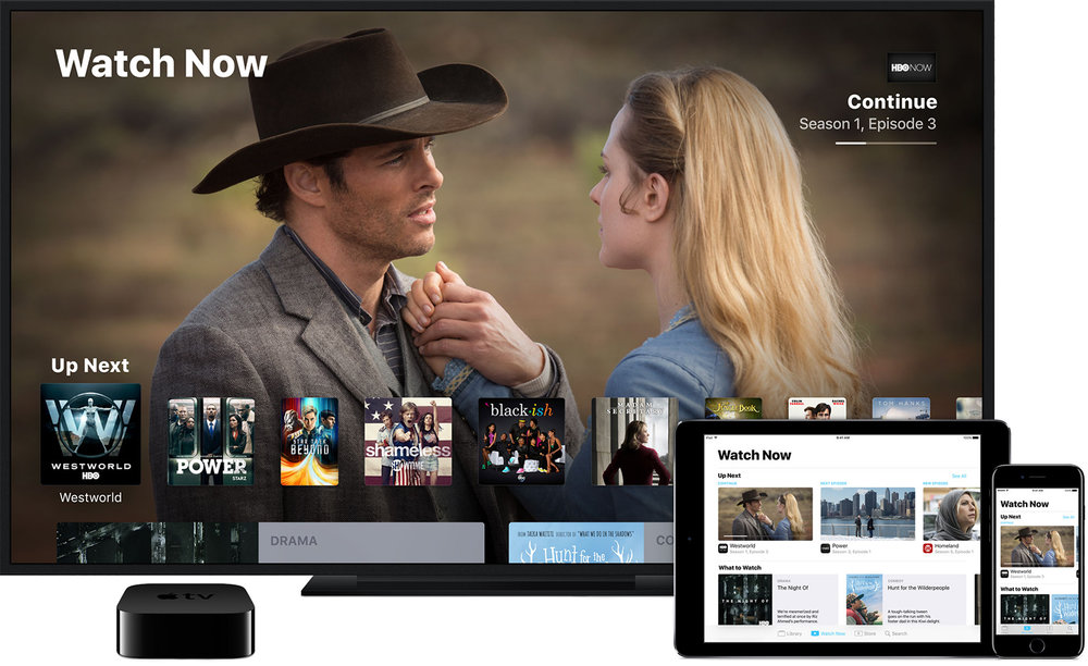 Apple's TV app: content from different sources, across different devices