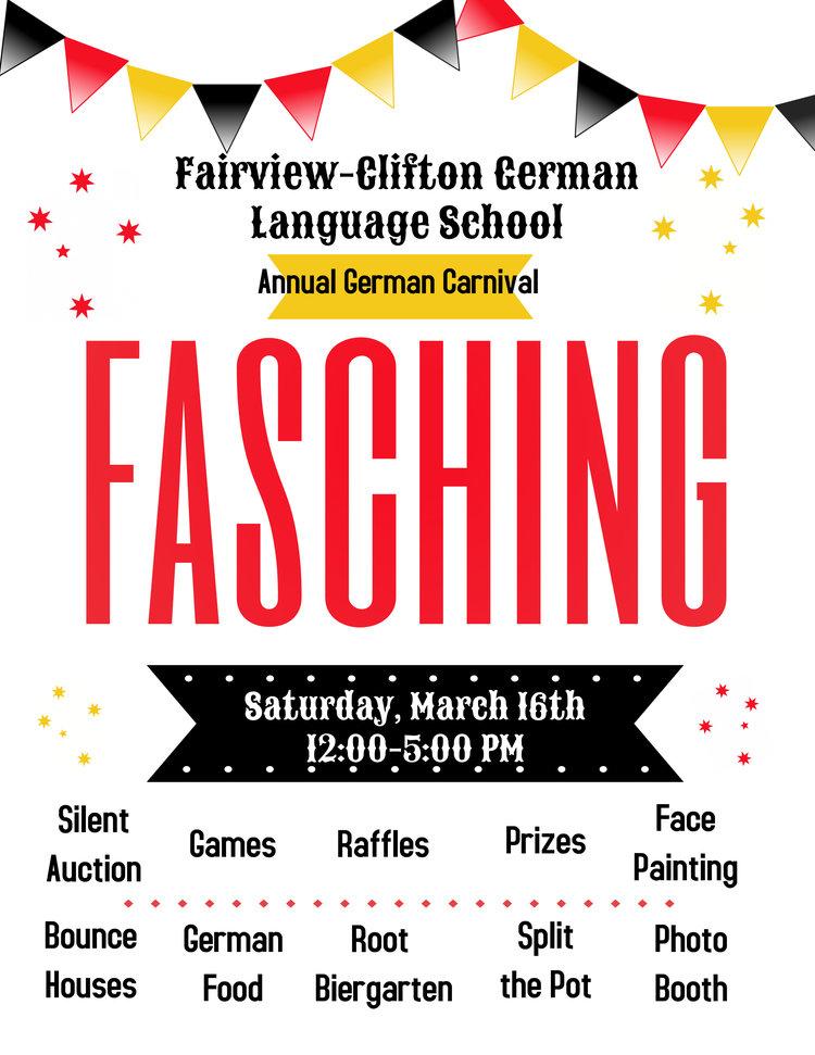 Fasching 2019 Fairview Clifton German Language School