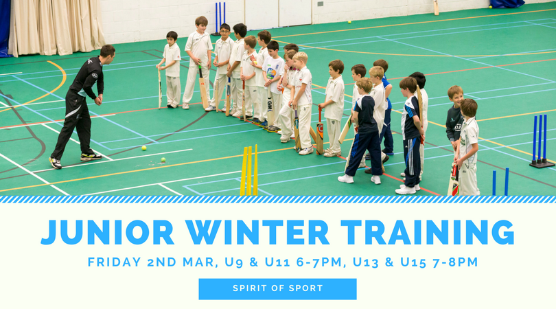 JUNIOR WINTER TRAINING burnley cricket club
