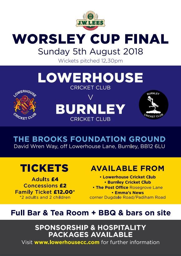 burnley cricket club lowerhouse final