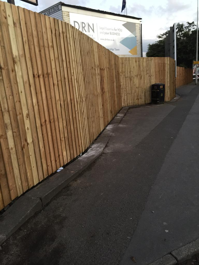 Check out our lovely new fence.