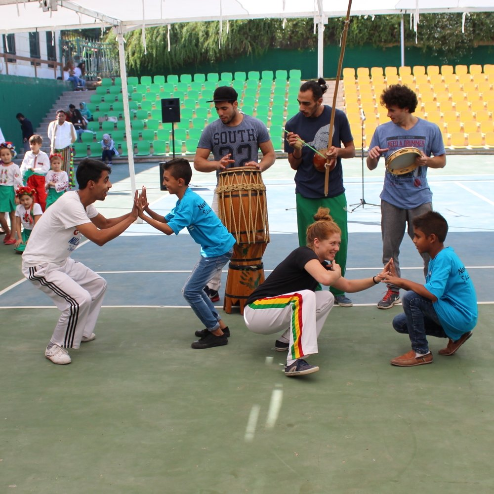 $75 - GIVES A CAPOEIRA SUPPORT SESSION TO A GROUP OF AT-RISK CHILDREN AND YOUTH