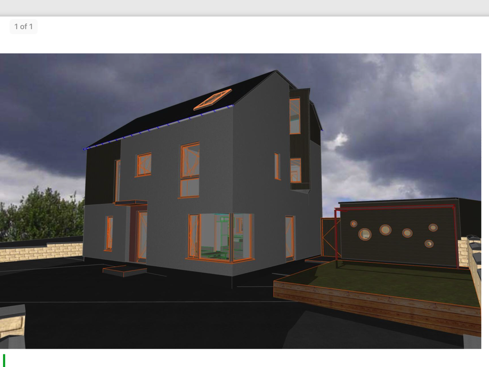 A CAD image of the proposed design, for which we have planning permission!