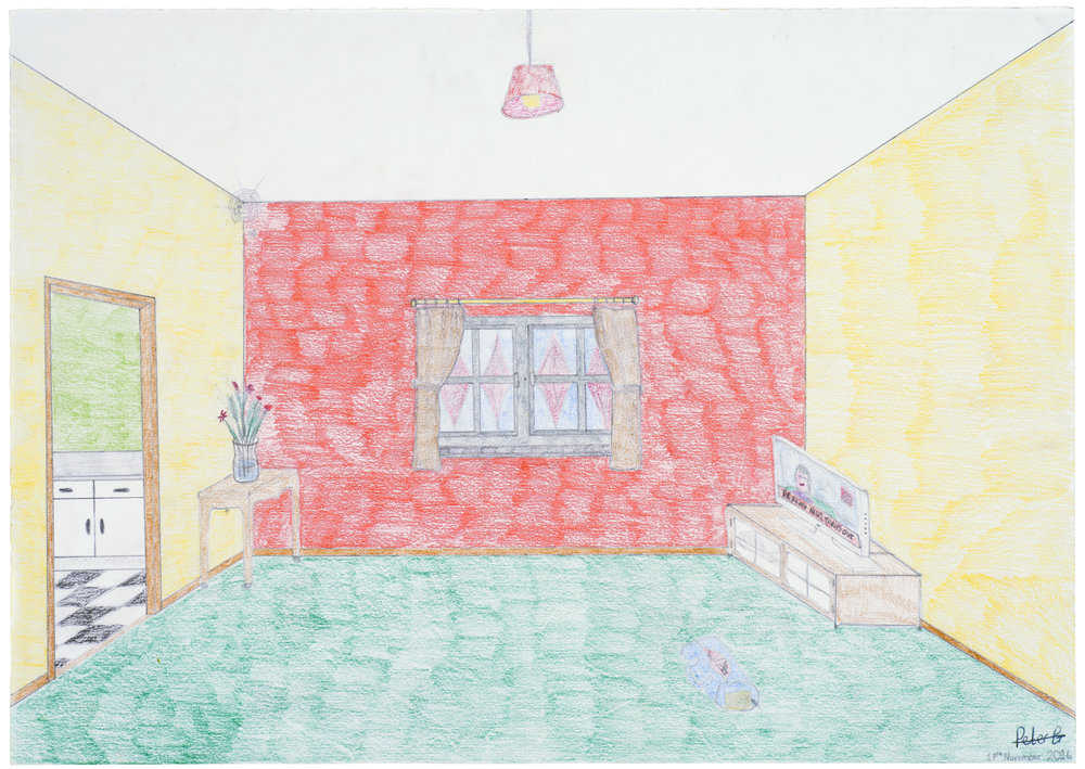 Dream Room   Peter G and Lizzie  Pencil and crayon