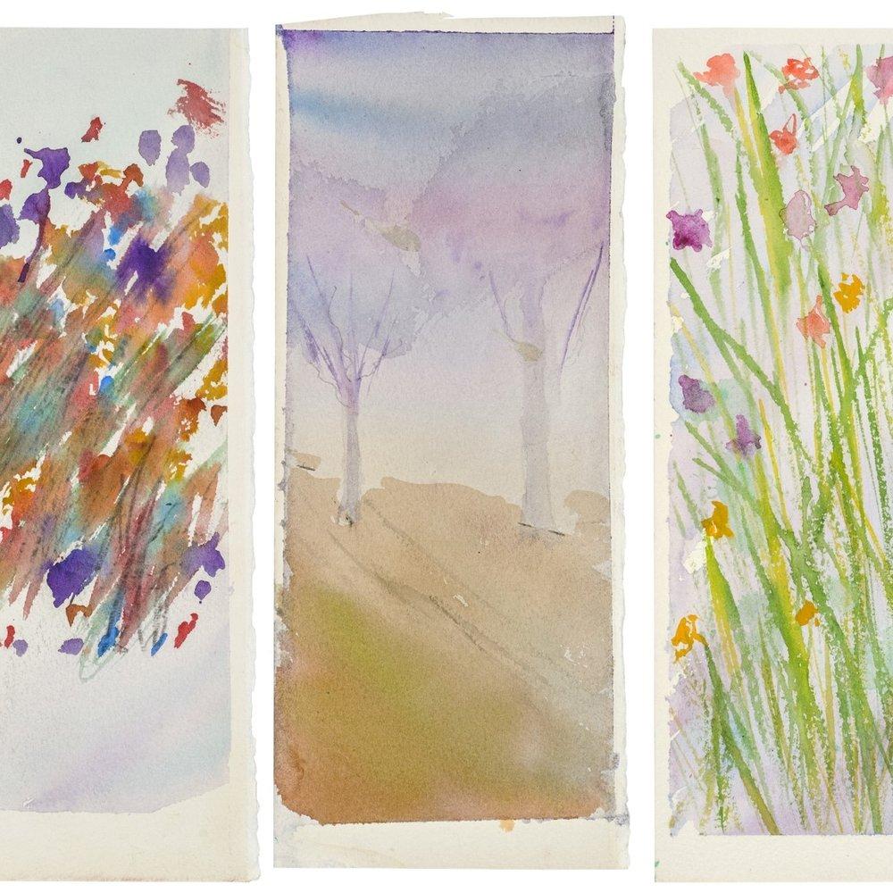 Triptych   Kevin Seddon  Watercolour