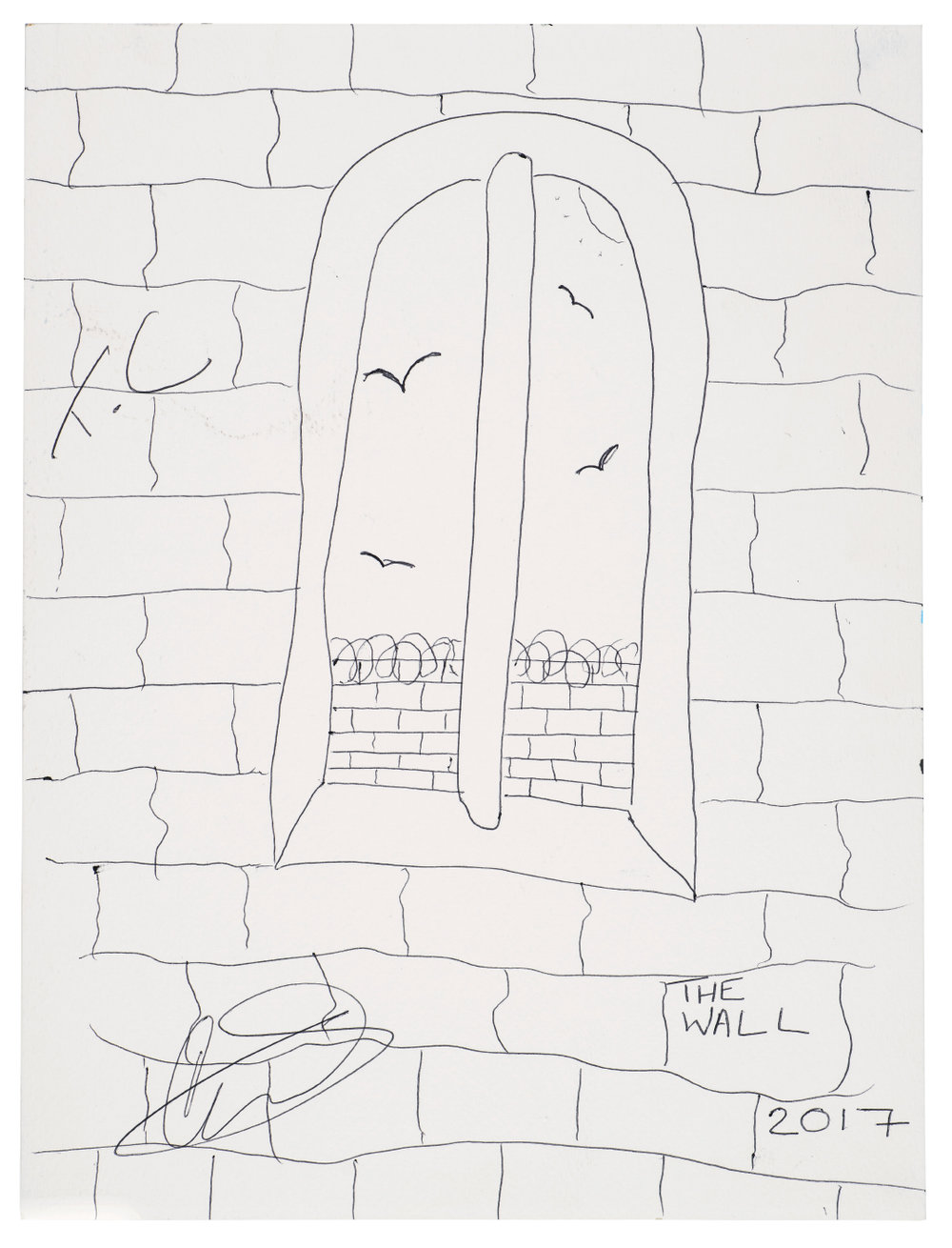 'I'm behind the wall, looking at the outside' by Name not given (Biro) £25.jpg