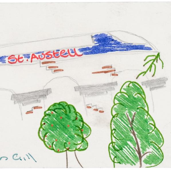 St Austell, Train   Darren Gill  Felt Pen