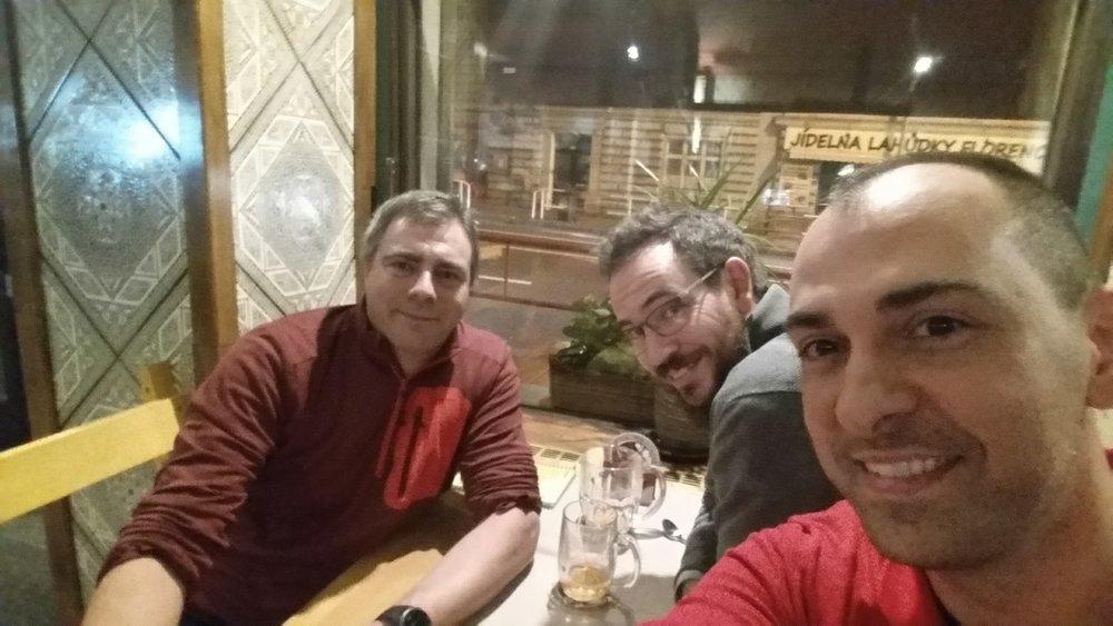 Me with Angelo Dureghello and  Johan Linåker