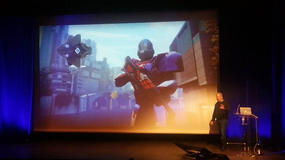 John Newton introduced Destiny 2 as a good example of user interface interactions