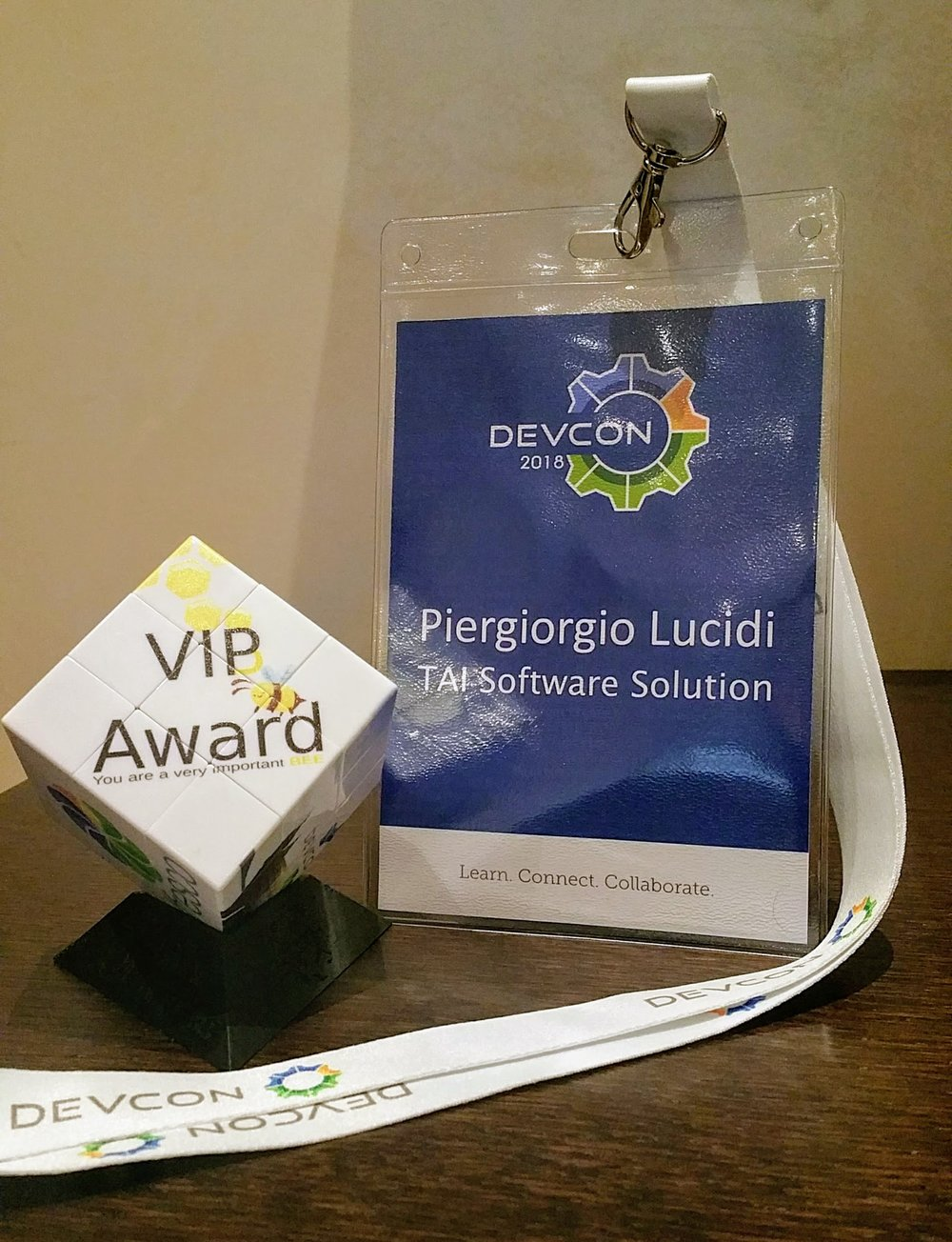 The Alfresco VIP Award received from Alfresco and the Order of the Bee.   Thank you so much!!! :)
