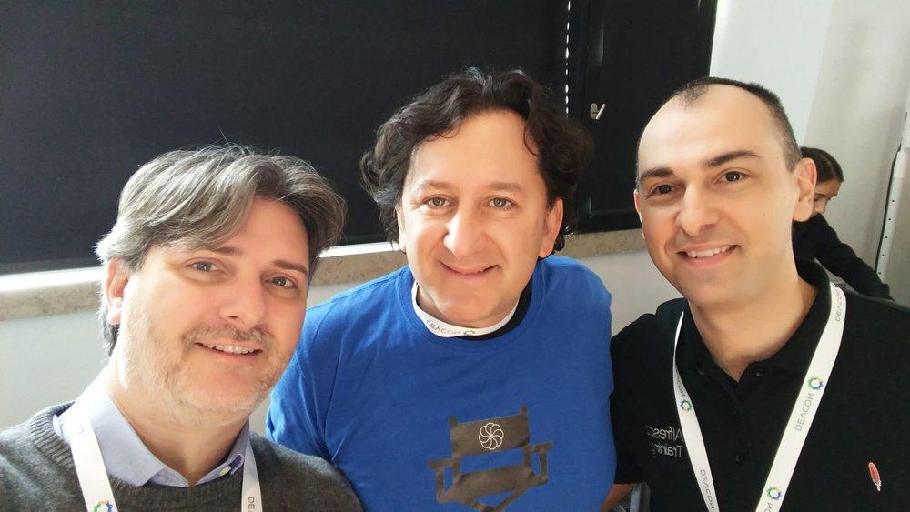David ,  Francesco and PJ