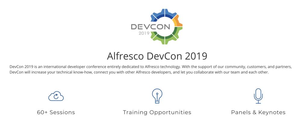 Alfresco DevCon 2019 — Open4Dev