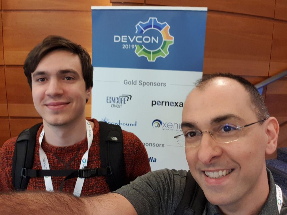 My colleague  Giuseppe Graziano  and me. For Giuseppe this was his first Alfresco DevCon, congratulations mate ;)