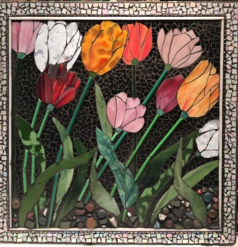 Dutch Bloom, Mosaic, 20Hx20W, $795