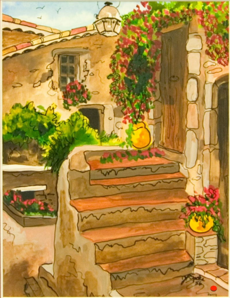 Eze,France II, Gauche, 8Hx6W, SOLD