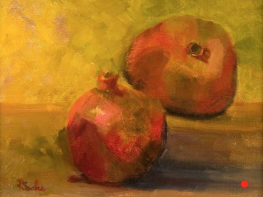 Pomegranates, Oil, 9Hx12W, SOLD