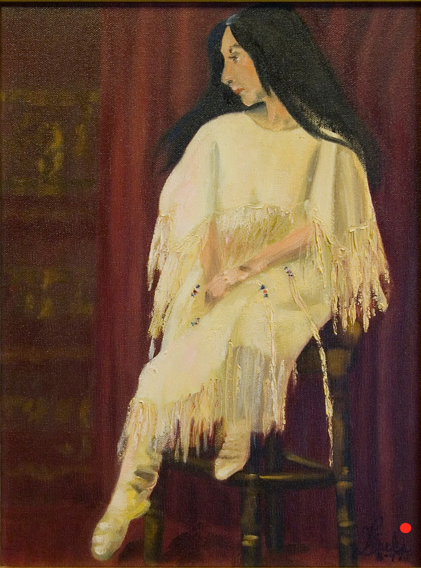 Indian Model, Oil, 18Hx12W, SOLD