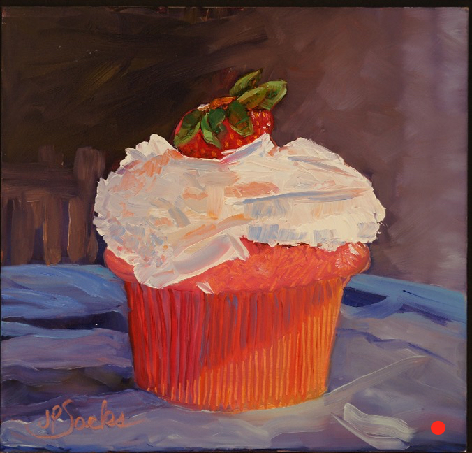 Cupcake Madness, Oil, 8x8, SOLD