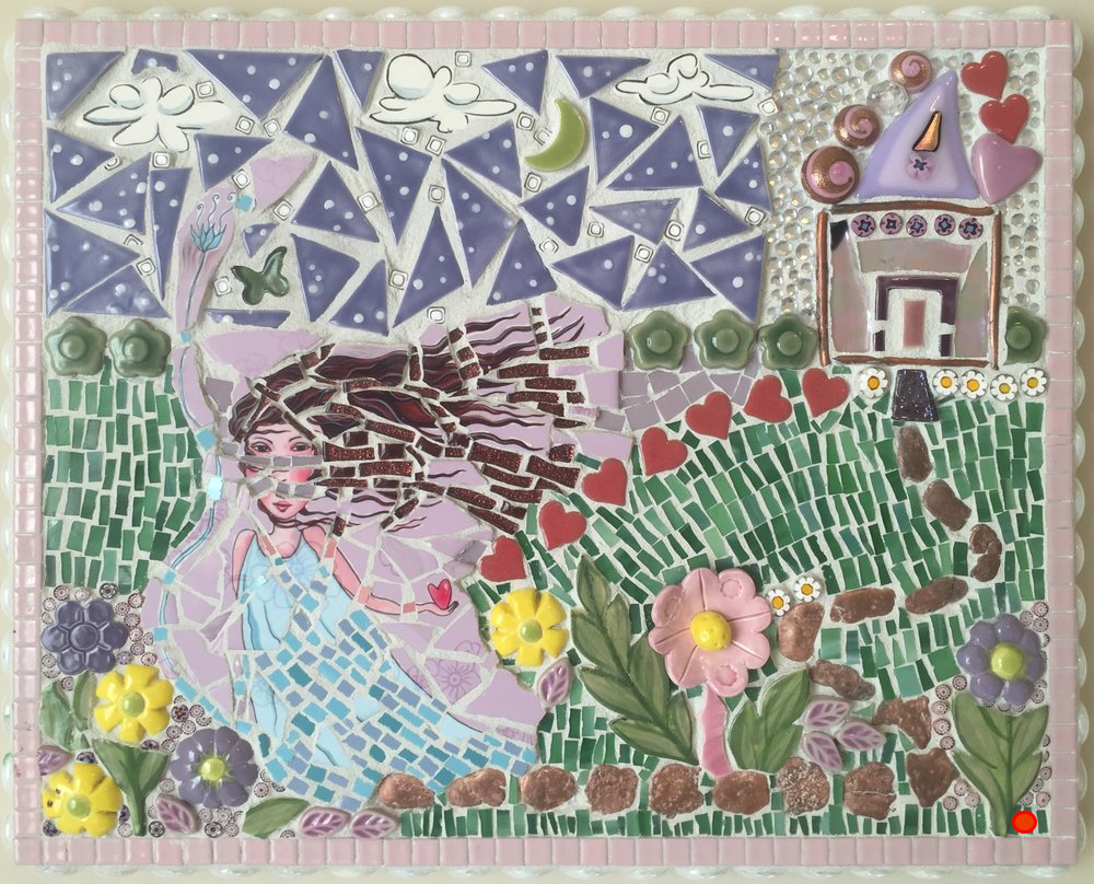 To My 1st Day of School, Mosaic, 12Hx18W, SOLD