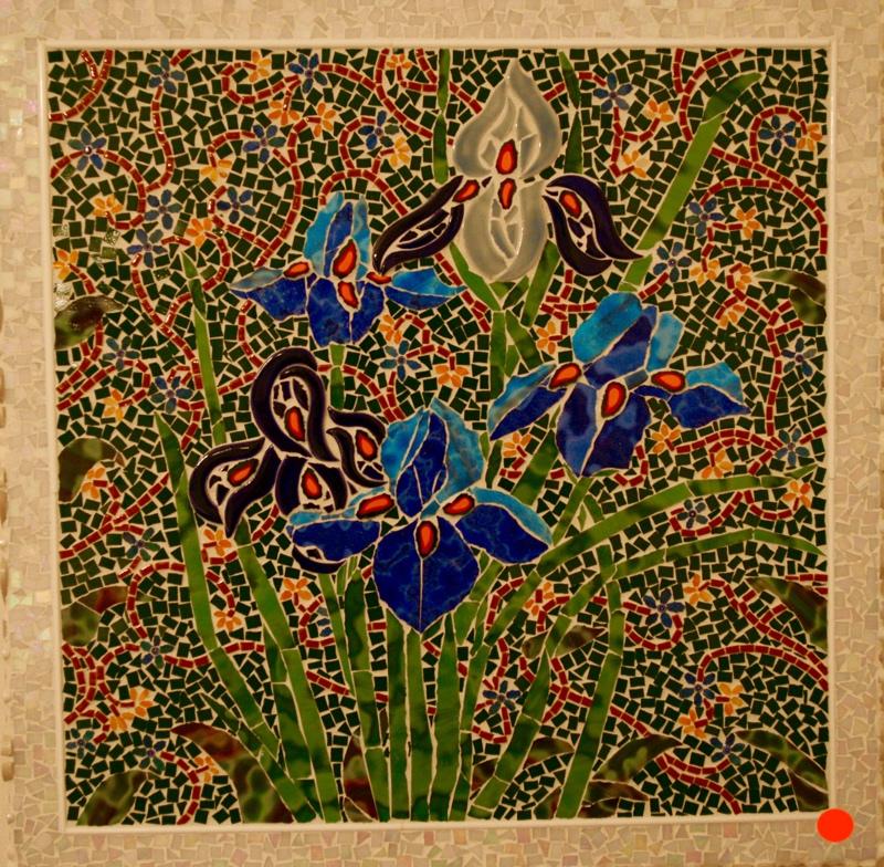 Iris Spring, Mosaics, 20Hx20W, SOLD