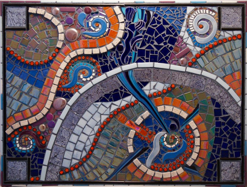 Lightning, Mosaic, 18.5Hx24.5W, $795