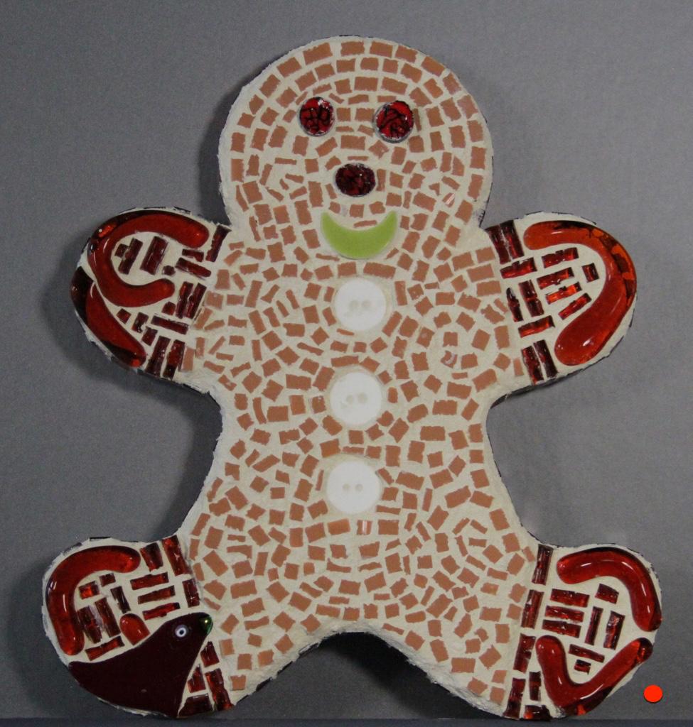 Ginger Man, Mosaic, 8Hx6W, SOLD