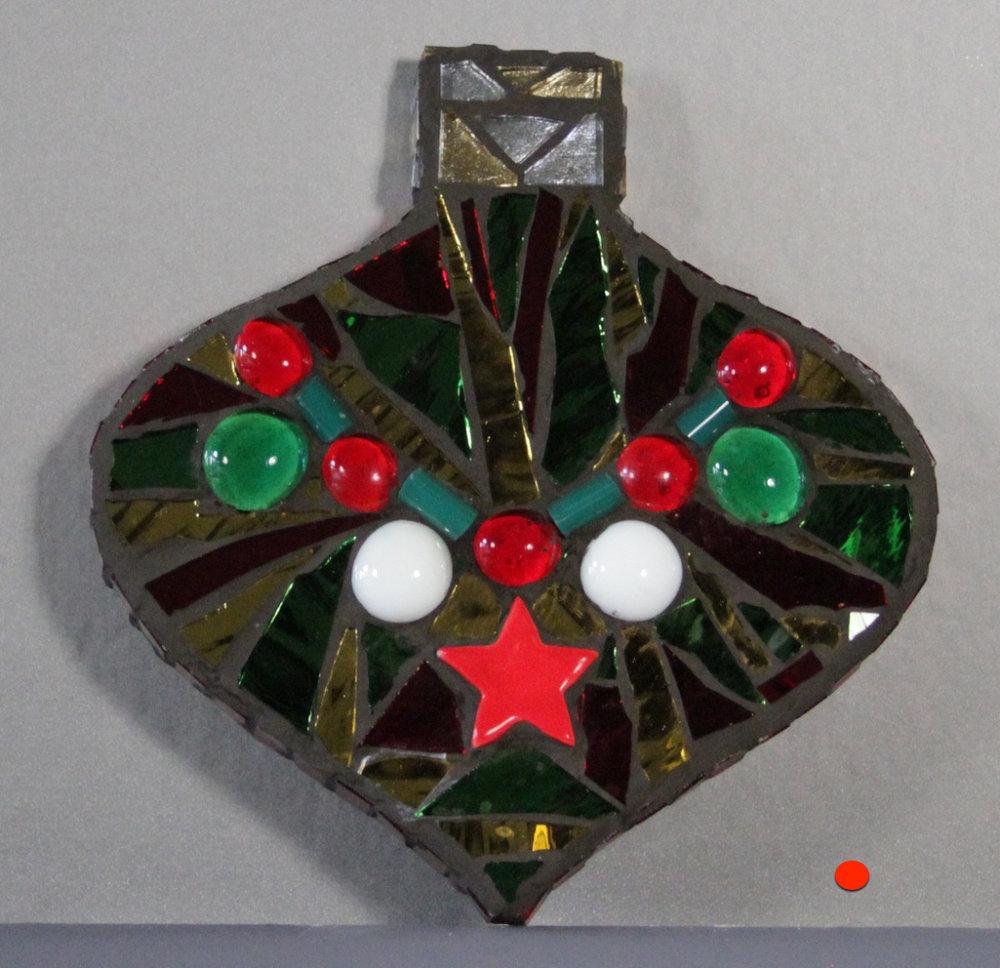 Ornament Bright, Mosaic, 6Hx6W, SOLD