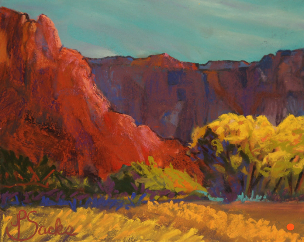 Georgia O'Keefe's Ranch, Pastel, 8Hx10W, SOLD