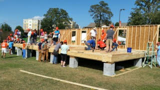 Clemson students hard at work Homecoming weekend -
