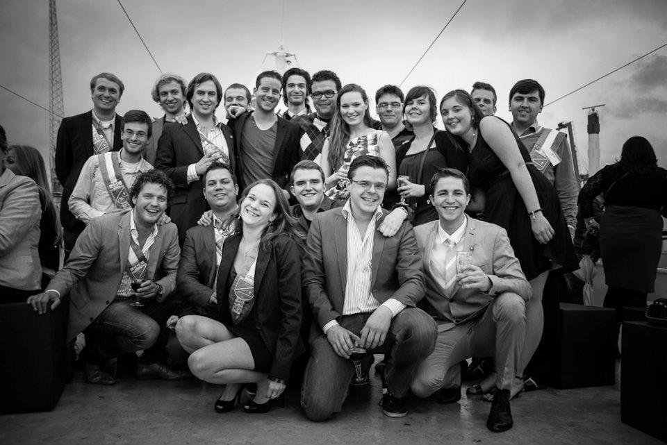 Foto: Verschillende generaties van het CDS praesidium