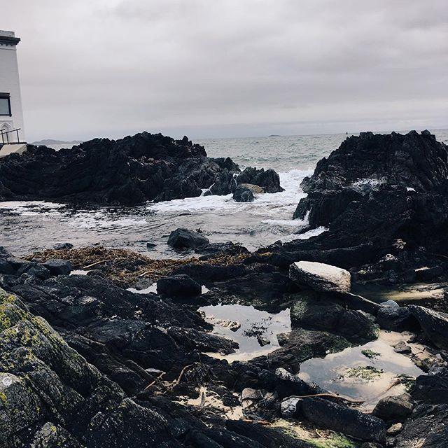 Grey sky's but they never opened. Rocks and the sea.  #islandlife #scottishislands #islay #listentothesea