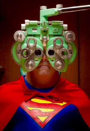 Even Superman needs to have his vision checked!