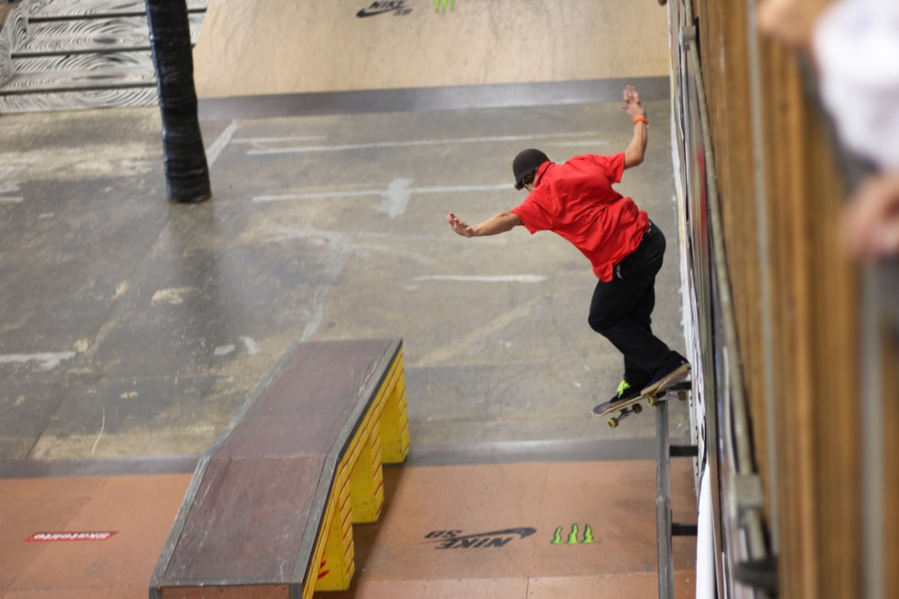Marshall riding a rail at Tampa Am