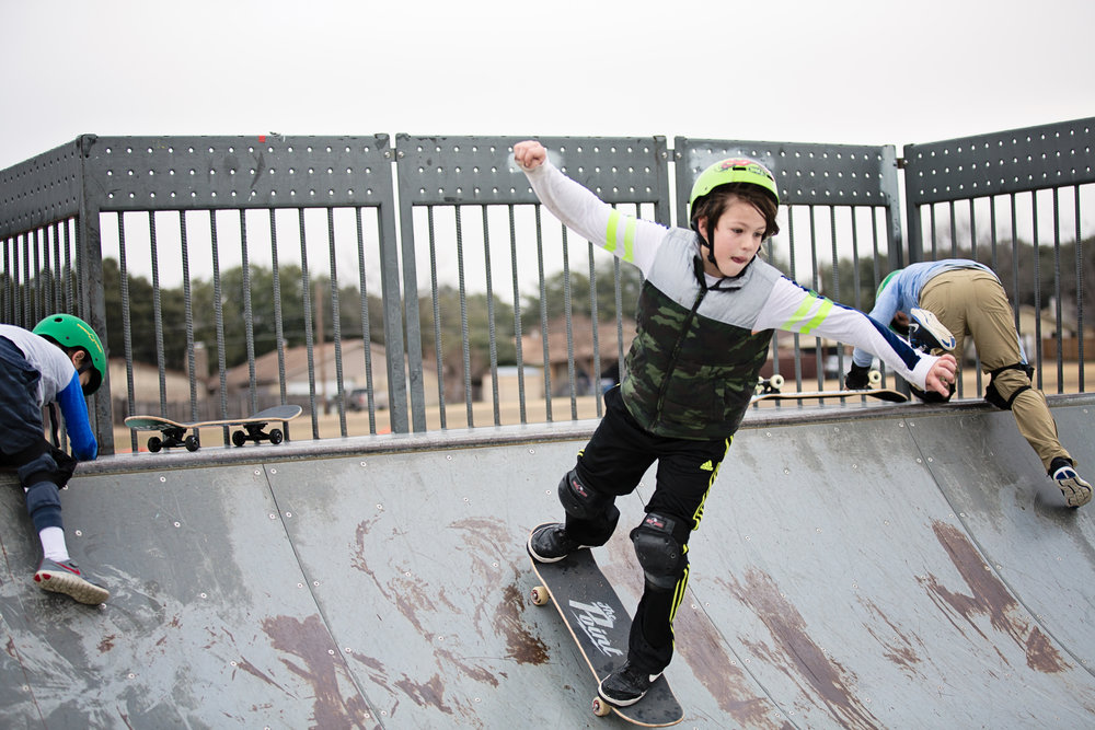 Photo of St. Francis Skatepark courtesy Carrie Smith, photographer and skate mom