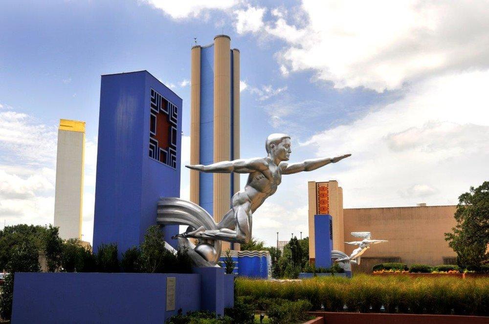 Fair Park in Dallas, TX is an Art Deco masterpiece