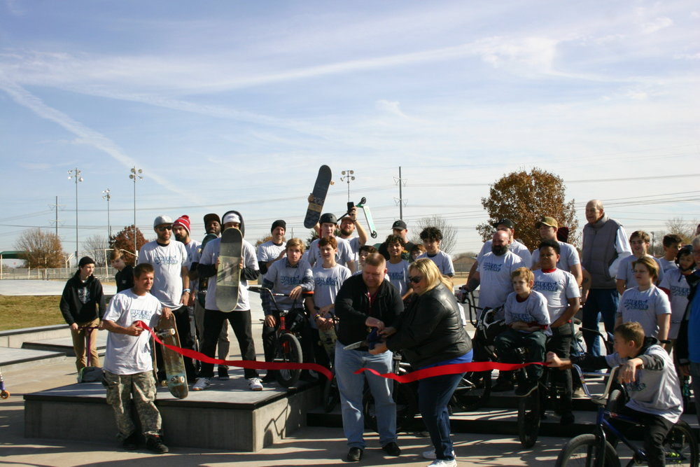 December 2017 Ribbon Cutting for The Colony Skatepark