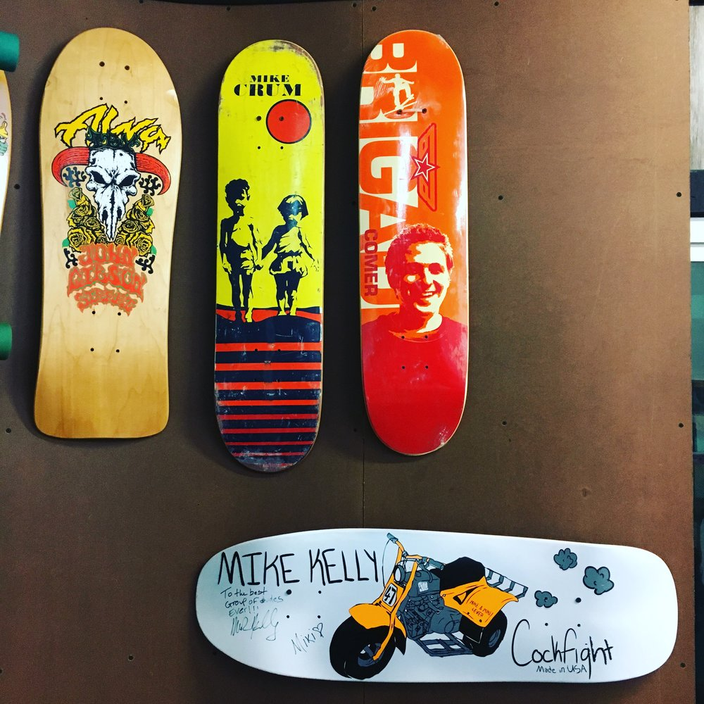 Texas Skate Legends at the Texas Skateboard Museum, photo by Tracy Weller