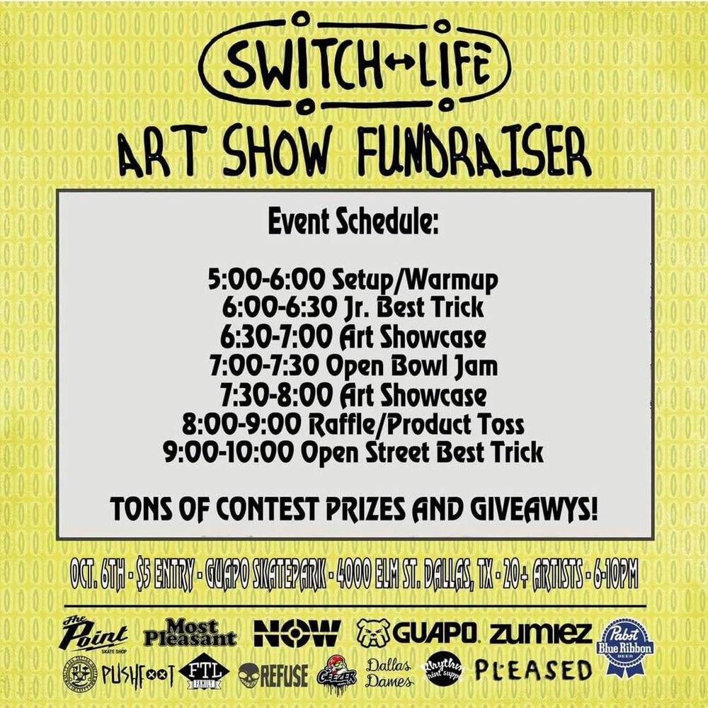 SwitchLife Art Show Schedule