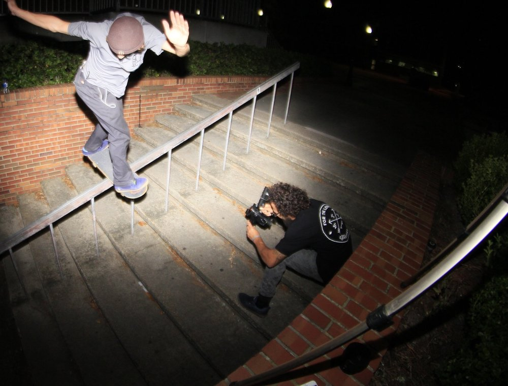 "Accomplished skater ""Peanut"" Hansom Baptiste IV films Marshall Stinson"