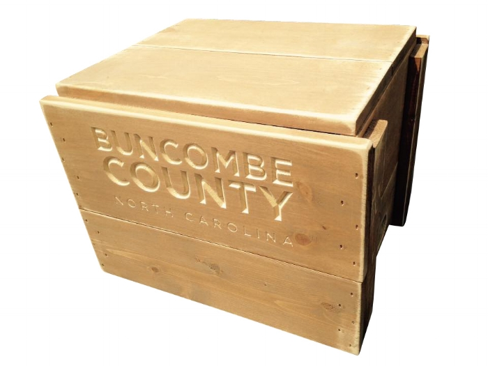 Big Daddy, Asheville Crate Company, custom engraved crates, vintage crates, farmhouse crates, storage crates