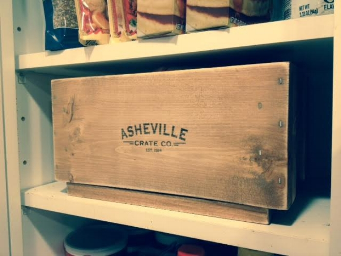 TooBits, Asheville Crate Company,Big Daddy, Asheville Crate Company, custom engraved crates, vintage crates, farmhouse crates, storage crates