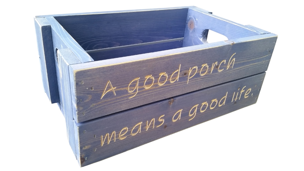 A good porch means a good life, asheville crate company, custom crates, porch life